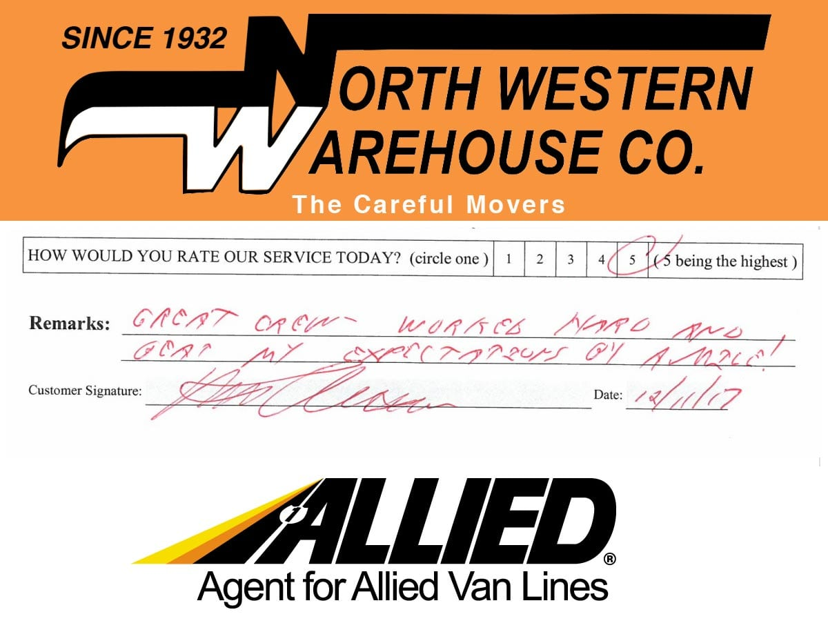 North Western Warehouse Testimonials