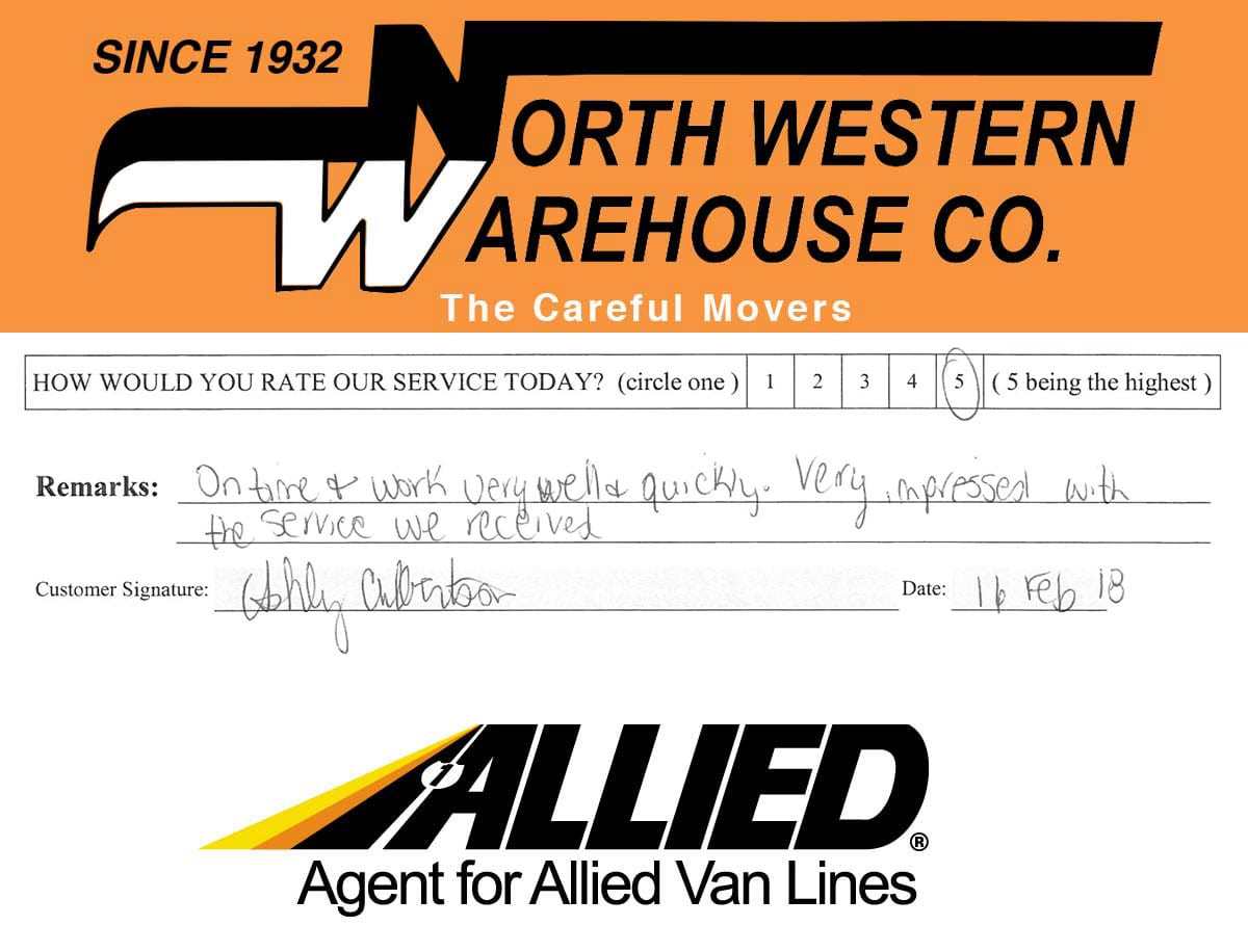 Review - Northwestern Warehouse - Allied Van Lines