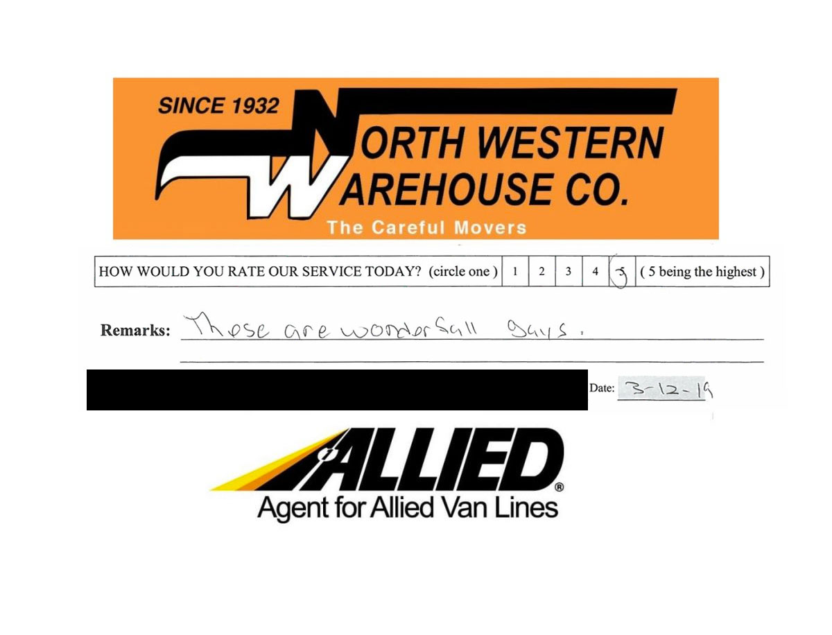 Review - Northwestern Warehouse - Allied Van Lines